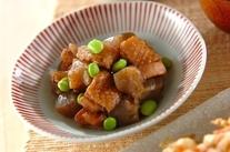 板コンニャクと鶏肉のうま煮