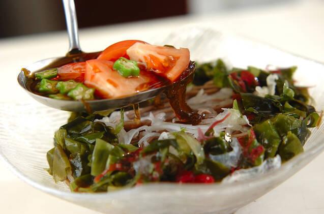 もずくと大根の美サラダそばの作り方の手順8