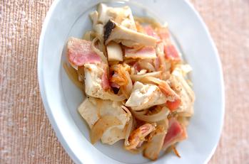 豆腐のアンチョビ炒め