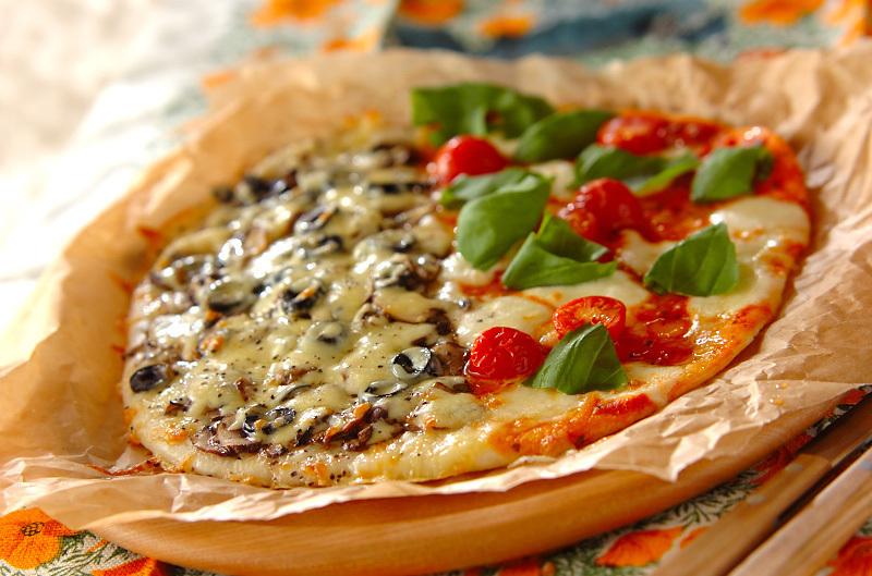 ハーフ&ハーフで欲張りピザ