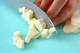 チーズのラビオリ風の下準備1
