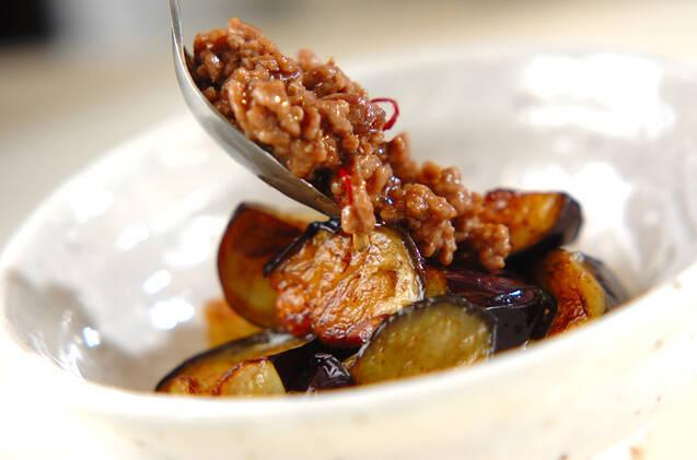 揚げナスのトロミ肉みそがけの作り方の手順6