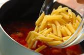 アサリと魚介のトマトスープパスタの作り方2