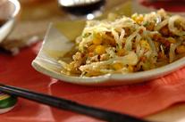 納豆とコーンのかき揚げ