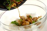 キノコとクレソンの混ぜご飯の作り方3