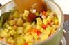 押し麦の豆乳スープの作り方の手順2