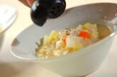 押し麦の豆乳スープの作り方3