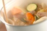 豚バラと夏野菜煮の作り方2