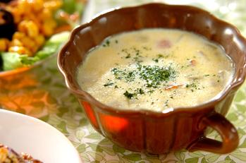サツマイモと大豆のミルクスープ