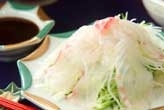鯛のお造りサラダ風
