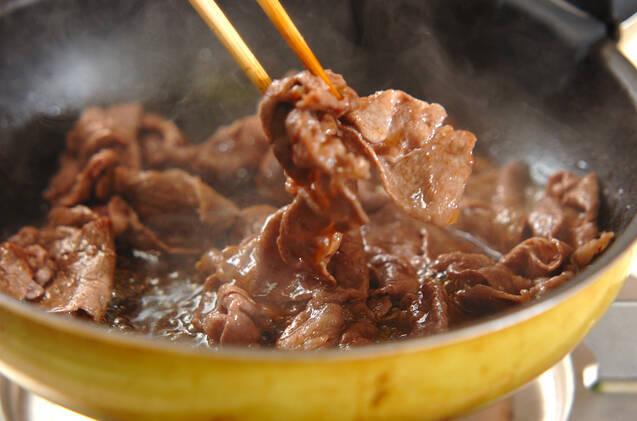 皿盛りすき焼きの作り方の手順6