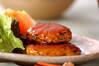 照り焼き鶏バーグの作り方の手順