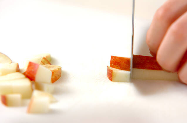 リンゴドーナツの作り方の手順1