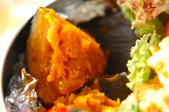 カボチャの麺つゆ煮