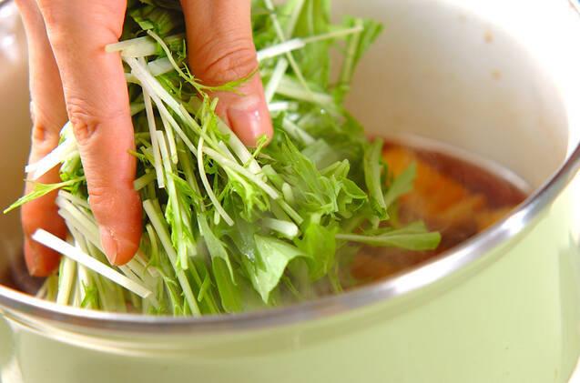 水菜のサッと煮の作り方の手順6