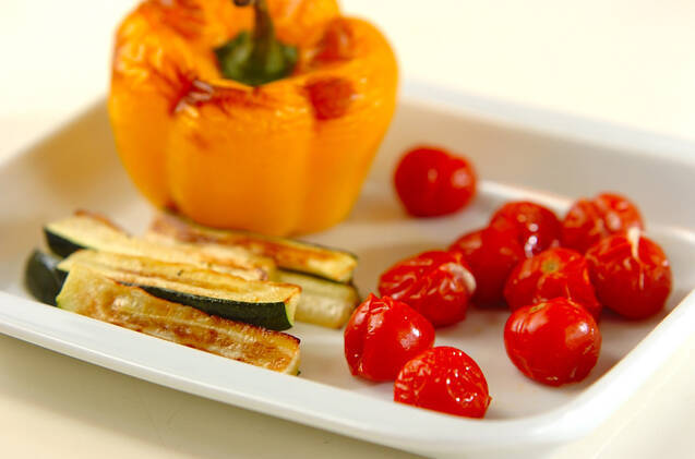 焼き野菜の冷製パスタの作り方の手順4