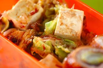 豆腐とキャベツのおかか炒め
