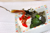 ほうれん草の長芋がけの作り方2