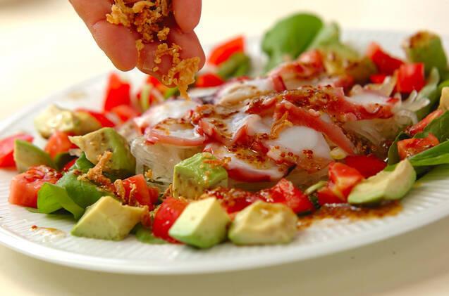 タコとアボカドのお刺身サラダの作り方の手順7