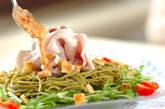 茶そばの豚シャブゴマサラダの作り方8