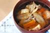 鶏肉とマイタケのみそ汁