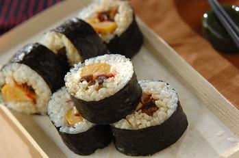 カンピョウの巻き寿司