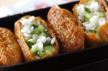 漬け物入り稲荷寿司