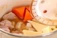 高野豆腐と鶏肉の含め煮の作り方1