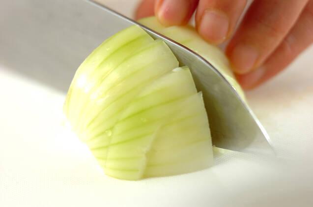 ジャガイモのみそ汁の作り方の手順2