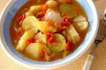 ツナとジャガイモのフレッシュトマト煮