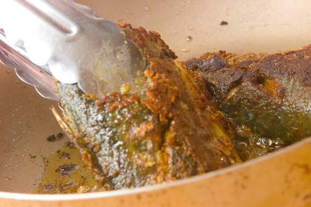 サバのカレー焼きの作り方の手順3