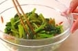 小松菜と干しエビの甘酢の作り方2