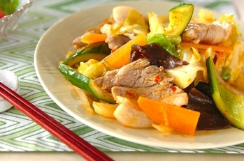 豚肉の中華炒め