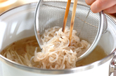 糸コンのみそ汁の作り方1