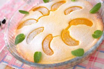 桃のヨーグルトケーキ