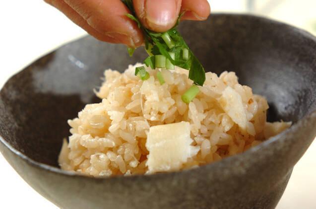 タラの炊き込みご飯の作り方の手順4