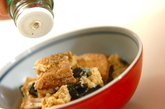 厚揚げとシイタケの卵とじの作り方3