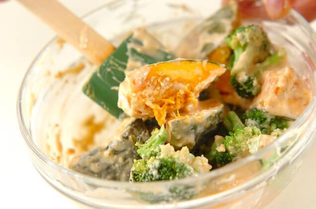 簡単カボチャのサラダの作り方の手順3
