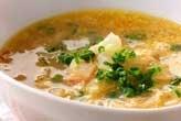 具だくさんの白いスープ
