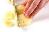 ジャガイモのみそ汁の下準備1