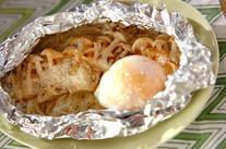 白シメジと卵のホイル焼き