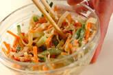 クラゲと野菜のピーナッツ和えの作り方6