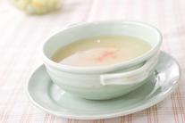新玉ネギのスープ