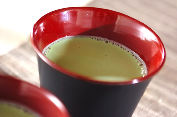 ホット抹茶豆乳
