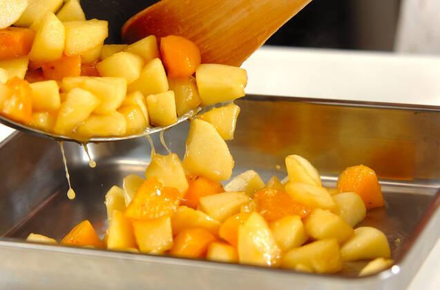 リンゴと柿のパイの作り方の手順5