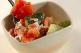 トマトとチーズのおかか和えの作り方4