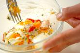 ゆで卵とカニカマのマヨ和えの作り方1