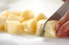 粉ふきイモのチリメン和えの作り方の手順1