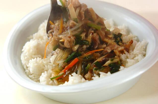春雨入り中華丼の作り方の手順11