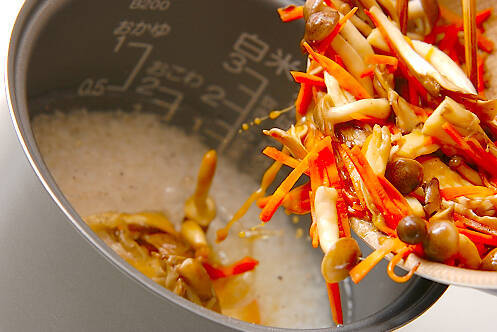 炊き込みご飯の作り方の手順4